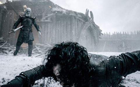 Jon Snow battles a wight