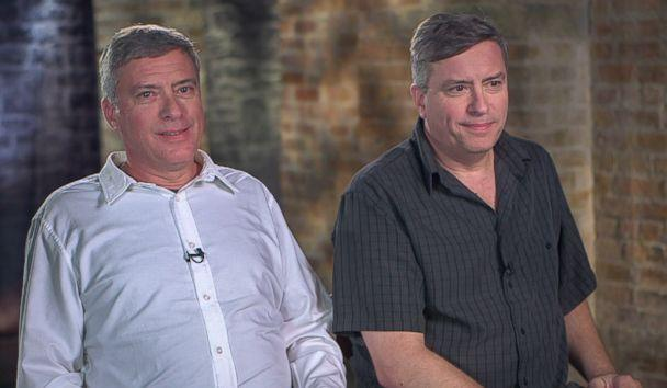 PHOTO: Howard Burack (left) and Doug Rausch (right) tell ABC News' '20/20' about the story of their adoption and their reunion. (ABC News)