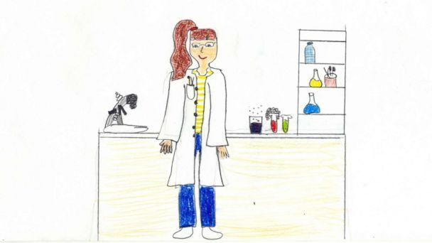 PHOTO: A meta-analysis of studies conducted by researchers at Northwestern University says that children are drawing scientists as female more than ever before. (Courtesy Vasilia Christidou)