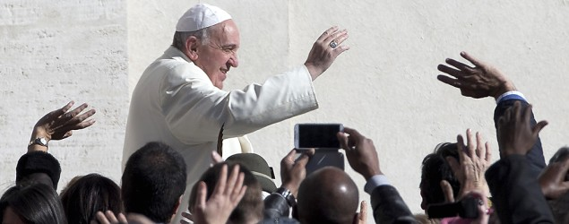 Pope wants church to study gay marriage. (Alessandra Tarantino/AP)