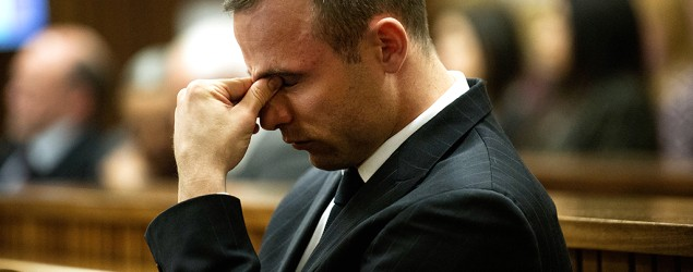 Oscar Pistorius is off the stand but things in court were still intense. (AP)