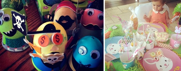Celebs celebrate a colorful Easter holiday. (Instagram)