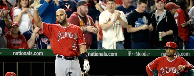 Albert Pujols slams 500th HR of his career. (Getty Images)