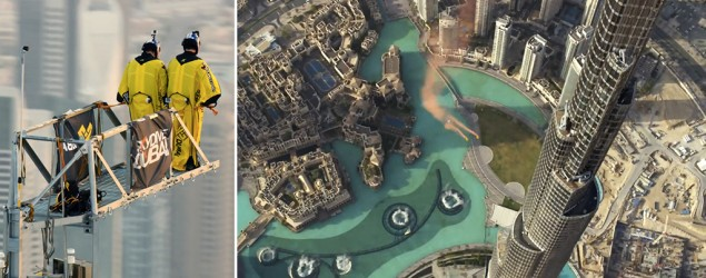 Burj Khalifa world record stunt (screenshot)