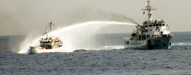 China levels blame at U.S. for rising tensions in South China Sea. (Vietnam Coast Guard/AP)