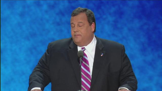 Christie: touts Romney, calls for American leadership
