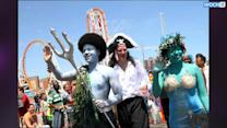 NYC Mayor A Pirate Among Mermaids At Zany Parade