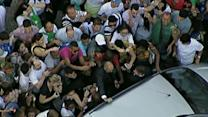 Crowds Mob Pope on First International Trip