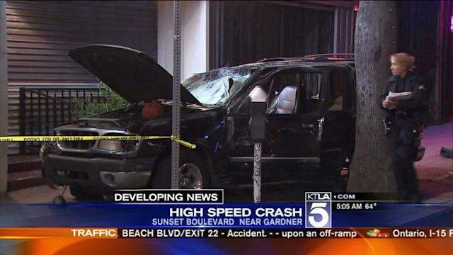 Gun, Passenger Ejected in 3-Vehicle Crash in Hollywood