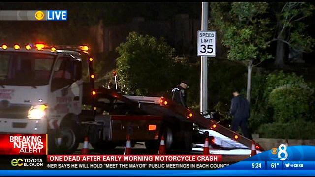 One dead after early morning motorcycle crash
