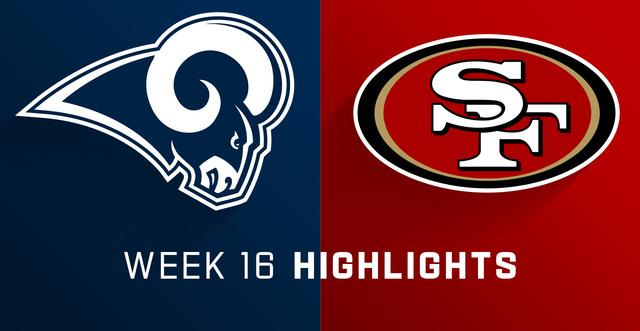 Rams Vs 49ers Highlights Week 16