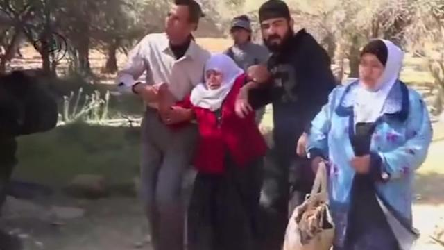 Trying to flee in Syria