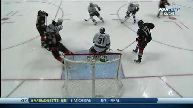 Ryan Getzlaf smacks it in out of mid-air