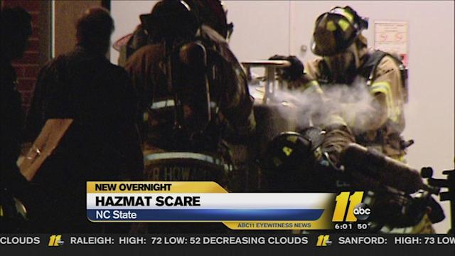 HazMat crews called to NC State's campus