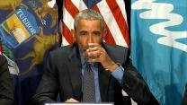 Obama Drinks Filtered Water During Visit to Flint