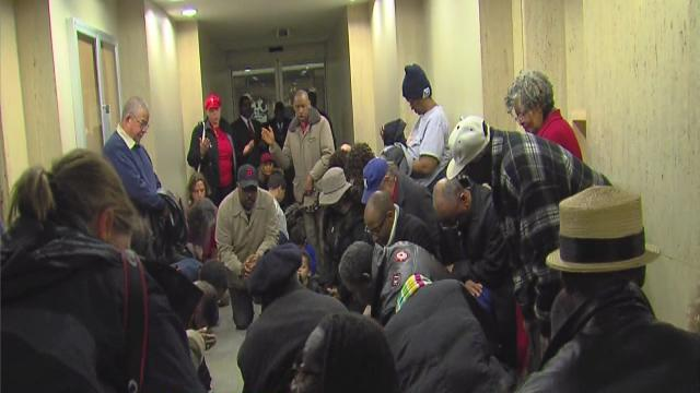 New protests at Detroit city hall