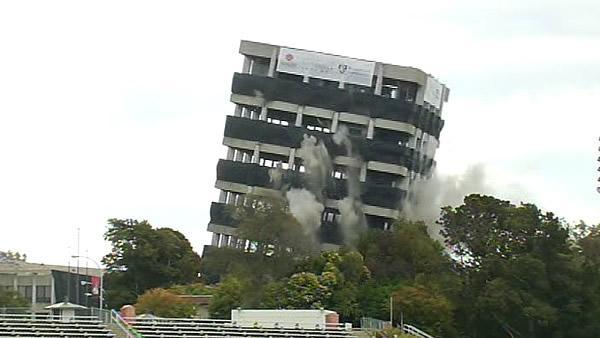 Crews implode Cal State East Bay's Warren Hall