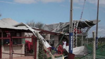 Raw Video: Paraguay storm causes death, damage