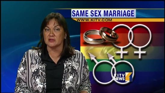 Small groups gather at State Capitol and UH Manoa to discuss same sex marriage