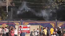 Raw: Tear Gas Fired As Clashes Erupt in Egypt