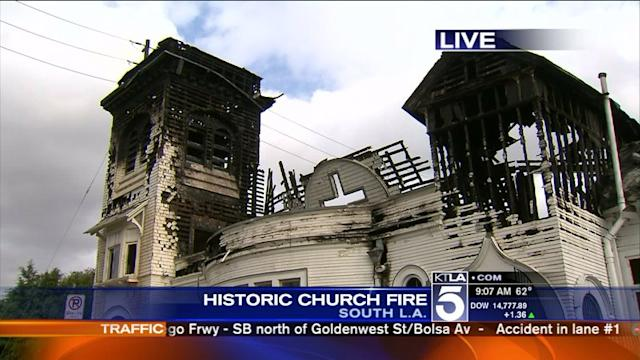 Fire at Historic South L.A. Church Believed to Be An Accident