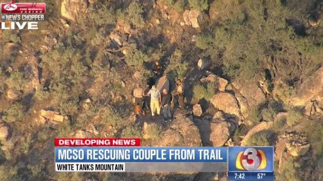 MCSO finds, rescues lost couple in White Tank Mountain Regional Park