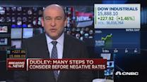 Negative rates not a consideration: Dudley