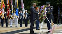 Obama Honors the Troops at Arlington Cemetery