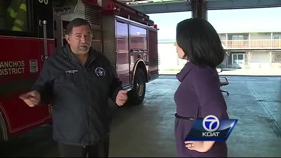 Fire station helped Deputy Hopkins