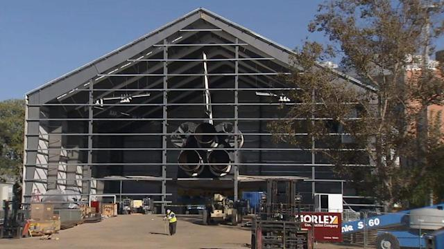 Work begins on new Endeavour display at California Science Center