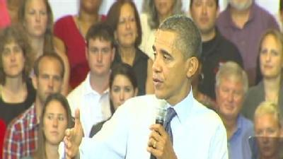 Inquisitive Crowd Greets Obama In College Park