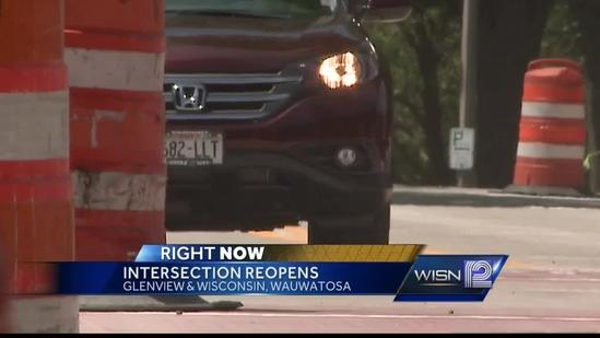 Wisconsin Ave. in Wauwatosa reopens to traffic