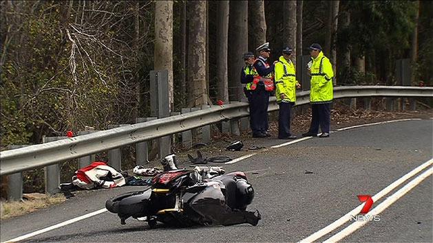 Motorbike rider fighting for life