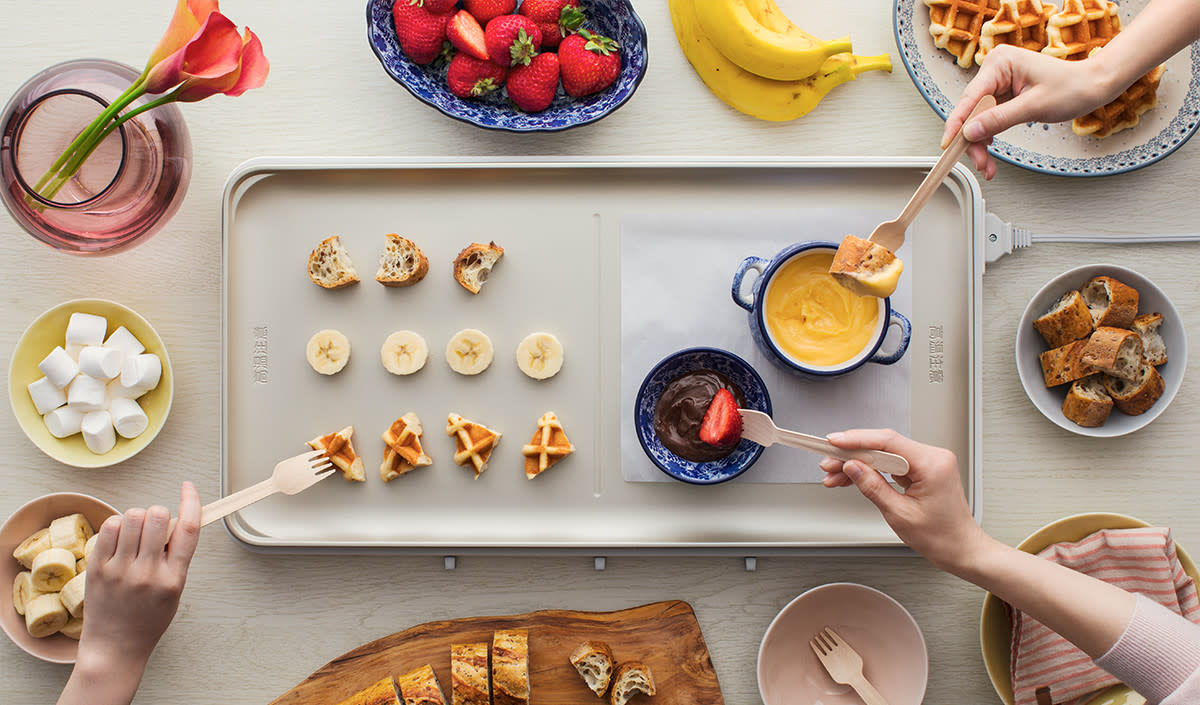 日本Panasonic多功能桌上薄型電磁爐烤盤