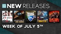 F1 2015, Smite, The Red Solstice, Rocket League - New Releases