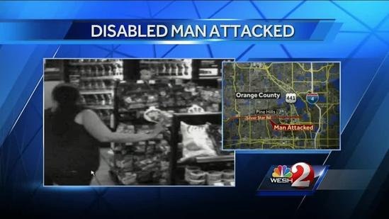 Video shows ugly attack against disabled man