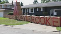 Dad Builds Elaborate Birthday Messages for His Daughter on the Front Lawn