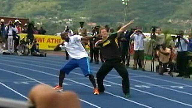 Prince Harry and Usain Bolt In Jamaica