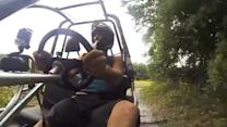 Slow Motion Go-Kart Crash