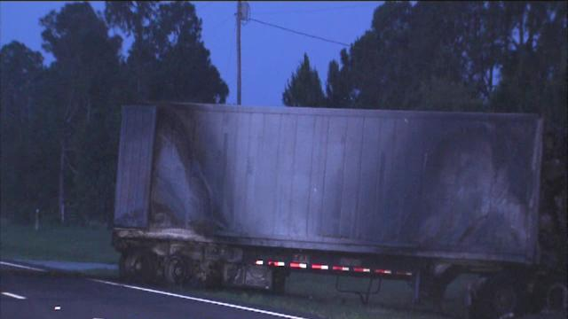 US 27 shut down after fiery semi crash
