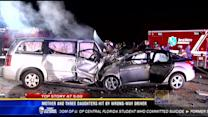 Mother and three daughters hit by wrong-way driver
