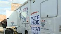Raw: Jersey Shore town casts votes in winnebago