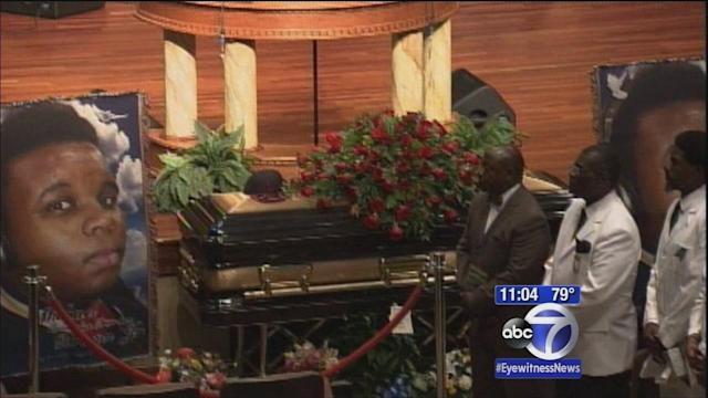 Friends, family gather in St. Louis at funeral services for Michael Brown