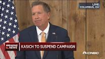 Kasich officially suspends campaign