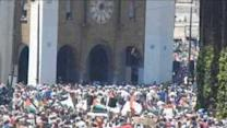 Large Demonstration Held in Rabat in Solidarity With Gaza