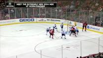 Jaromir Jagr sets up Dainius Zubrus in front