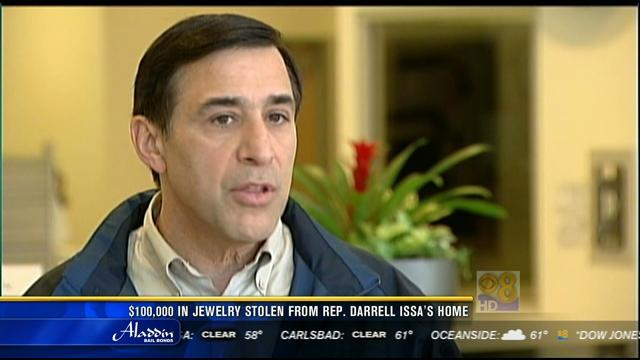 $100K in jewelry reported stolen from Rep. Darrell Issa's home