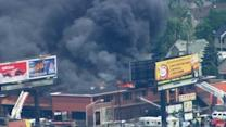 Stone Park fire closes Mannheim from US 20 to North Ave