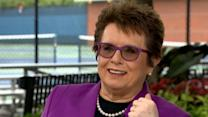 Billie Jean King on Bobby Riggs Cheating Accusations: 'I Just Beat His Butt'
