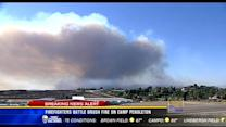 5PM UPDATE | Firefighters battle brush fire on Camp Pendleton